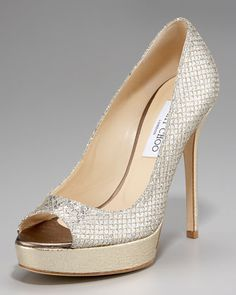Crown Open-Toe Platform Pump by Jimmy Choo at Neiman Marcus.