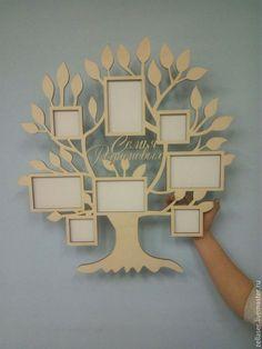 """Купить Фоторамка """"Семейное дерево"""" - бежевый, фото, фоторамка, дерево, дерево для фото, семейное дерево"""