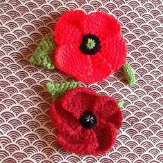 November Poppies knitting project by Hazel H