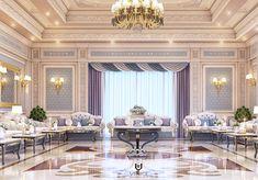 Luxury Majlis on Behance Interior Design Companies, Drawing Room, Luxury Interior, Valance Curtains, Luxury Homes, Furniture Design, Behance, Ceiling, Interiors