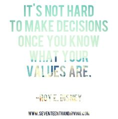 it all comes back to knowing your values  standing your ground.