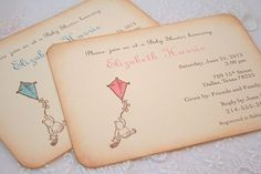vintage winnie the pooh invitations | Winnie the Pooh Invitation Baby Shower Christening Vintage Boy or Girl