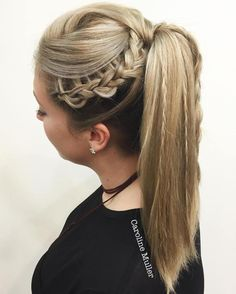 Twisted Ponytail With Braids