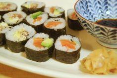 Sushi med laks og tun | 海苔巻き | norimaki