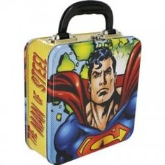 DC Comics Superman Square Tin Tote - 147920 from Hot Topic. Retro Lunch Boxes, Tin Lunch Boxes, All You Need Is, Star Trek Collectibles, Living Dead Dolls, Retro Kids, Man Of Steel, Hot Topic, The Ordinary