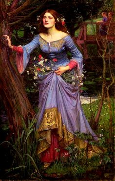 The Ophelia was painted by John William Waterhouse. This picture show how much detail they put into nature in the painting.