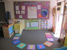 circle time - could use our alphabet puzzle foam blocks for this and have kids say the letter they want.