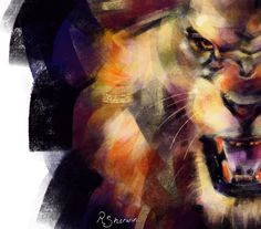 A drawing of a lion roaring using ProCreate app on iPad Pro with Apple Pencil. Ipad Pro, Pencil, Apple, Drawings, Artist, Painting, Polymer Clay Kawaii, Lion, Apple Fruit