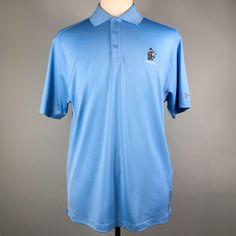 9250fcb6 Under Armour Blue HeatGear Fiddlesticks Logo Golf Polo Size L. Polo Shirts  ...