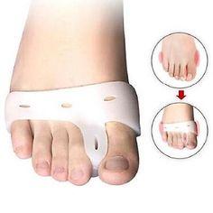 Silicone Hallux Valgus Orthosis Toes Brace Separators Soft Foot Care Pad Tool