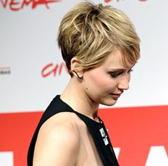 Jennifer Lawrence. I can't help it, I think I'm going to have to cut my hair like this again.