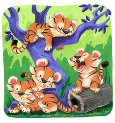 Lazy+Tigers by+flimflammery