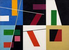 Sophie Taeuber-Arp (Swiss Six Espaces Distinct Oil on canvas 64 x 87 cm. Jean Arp, Zurich, Bauhaus, Abstract Drawings, Abstract Art, Sophie Taeuber Arp, Dada Artists, Hans Richter, Tachisme