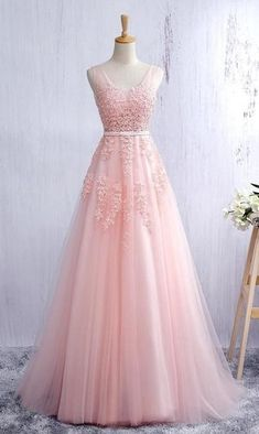 Pink Prom Dress, Prom Dresses, Graduation Party Dresses, Formal Dress For Teens - Mode Kleider Formal Dresses For Teens, Elegant Prom Dresses, Prom Dresses 2017, Backless Prom Dresses, A Line Prom Dresses, Dress Prom, Party Dresses, Quinceanera Dresses, Pastel Prom Dress