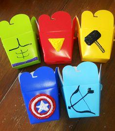 AVENGERS inspired treat boxes