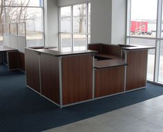 Reception desk for automotive dealerships by Interior Concepts.