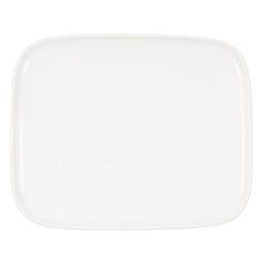 Hyv�ss� Seurassa Oiva lautanen 15 x 12 cm, valkoinen