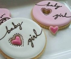 Baby girl announcement cookies...delicious