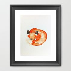 fox Framed Art Print by Carrie Booth - $33.00