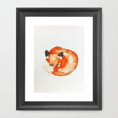 fox+Framed+Art+Print+by+Carrie+Booth+-+$33.00 10x12