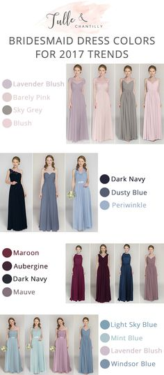 2017 trending bridesmaid dresses color ideas