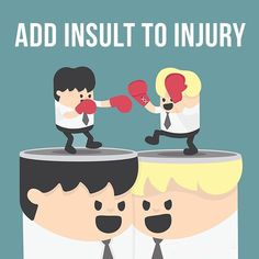 """Time for a video example! Our of the day is """"Add insult to injury"""", which means """"to hurt the feelings of a person who is already upset"""". Idiomatic Expressions, English Vocabulary Words, Idioms, Learn English, Icon Design, It Hurts, Family Guy, Ads, Feelings"""