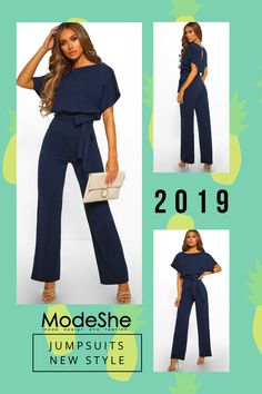 d9f2a118b0 Chic Blue Oh So Glam Belted Wide Leg Jumpsuit · Wide PantsRomper OutfitLoose  ...