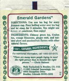 Emerald Gardens Green tea