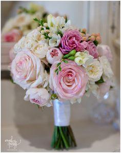 Pink and white wedding bouquet by camden florist Merci Bouquet