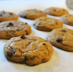 Pumpkin Chocolate Chip Cookies & the bakery secret for SUPER SOFT cookies!