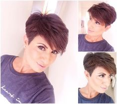 How to style the Pixie cut? Despite what we think of short cuts , it is possible to play with his hair and to style his Pixie cut as he pleases. Cute Short Haircuts, Corte Y Color, Coarse Hair, Haircut And Color, Short Hair Cuts For Women, Pixie Hairstyles, Hair Today, Hair Dos, Fine Hair