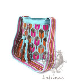 Wayuu Mochila bag by Annie Brodrick Tapestry Bag, Tapestry Crochet, Knit Crochet, Crochet Bags, Ethnic Bag, Handbag Patterns, Boho Bags, Beaded Bags, Knitted Bags