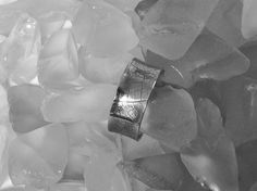 Wide Sterling Silver Unisex Ring with Leaf Skeleton Imprint,  R89