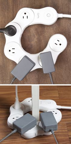 Pivot power board bends so you can fit all your big plugs on - and it can go around corners! #product_design