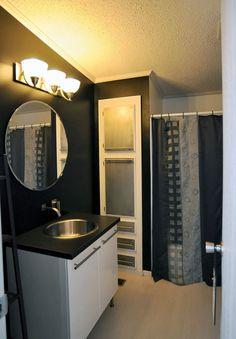 mobile home modern bath remodel artist creates mobile homes