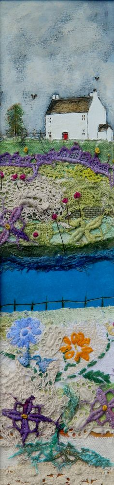 ''The sound of the brook echoes through the meadow''  by Louise O'Hara  https://www.facebook.com/DrawntoStitch