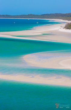 Famous Whitehaven Beach in Queensland, Australia