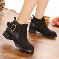 Buy 'Mancienne – Buckled Panel Ankle Boots' with Free International Shipping at YesStyle.com. Browse and shop for thousands of Asian fashion items from China and more!