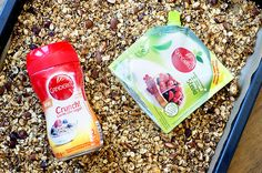frokostblanding-med-canderel Stevia, Granola, Cleaning Supplies, A Food, Soap, Dishes, Bottle, Blog, Cleaning Agent