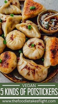 Veggie Recipes, Asian Recipes, Appetizer Recipes, Vegetarian Recipes, Cooking Recipes, Vegan Appetizers, Vegetarian Dinners, Dinner Recipes, Veggie Dumplings Recipe