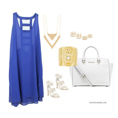 How we dressed our Spring Blues inspiration.  Dress: LD40099.  www.loveriche.com  #inspiration #spring #springblues #springlookbook #nyfw #lfw #fashion #springfashion #ootd #ootn #instafashion #instalike #instagood #instamood #instadaily #outfit #lookoftheday #style #wiwt #wdywt #igstyle #igfashion #photooftheday #michaelkors