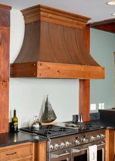 Knotty Cherry Lake House Kitchen - Mullet Cabinet