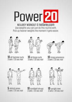 "Neila Rey: ""Power 20"" dumbbell workout"
