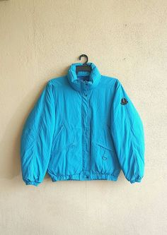 Moncler x Asics Ski Wear Zip Up Turquoise Color Down Puffer Jacket by  alltrade1 on Etsy f7747dcc6