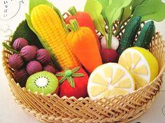 Felt Fruit & Vegetable basket - photo only