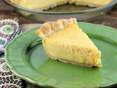 Buttermilk Lemon Pie... A lovely creamy texture flavored with just the right amount of lemon .  This is a keeper!