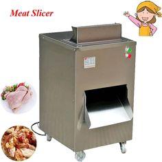 1021.00$  Watch now - http://alihps.worldwells.pw/go.php?t=32671940566 - 380V/220V Practical Food Processor Restaurant Meat Cutting Machine Chicken Slicer QC 1021.00$