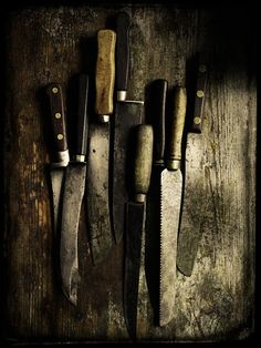 Old knives by Chris Court Photography #knife #kitchen #rustic