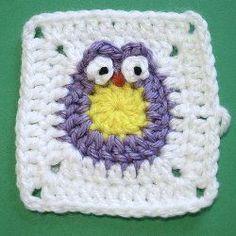 Baby Owl Granny Square