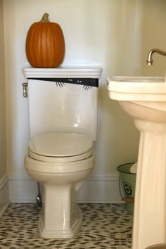 Halloween toilet monster decal - surprise your guests!  eclecticallyvintage.com